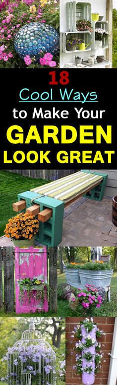 Get inspired by these easy, fast and cheap ideas to make your garden look great. All of these ideas are very practical and do not require so many efforts or money.