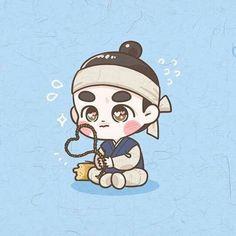Exo Cartoon, Cartoon Fan, Kyungsoo, Exo Stickers, Exo Anime, Cartoon Drawings Of Animals, Exo Fan Art, Korean Art, Korean Drama