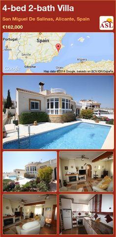 4-bed 2-bath Villa in San Miguel De Salinas, Alicante, Spain ►€162,000 #PropertyForSaleInSpain