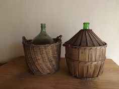 vintage wine containers