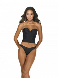 891050bc85 Dominique Low Back Satin Longline Bra – Blum s Swimwear  amp  Intimate  Apparel Strapless Shapewear