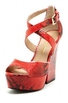 Snakeskin High Heel Strappy Sandal