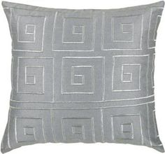Rizzy Home T-3441 Decorative Pillows, 18 by 18-Inch, Gray/Silver, Set of 2  Christmas 2017 is going to be more festive than ever therefore consider using cute Christmas accent pillows.  Christmas throw pillows come in many different fabrics, textures, styles and colors.   I decorate my home with green and red Christmas color scheme therefore I use a great deal of red Christmas accent pillows along with green holiday throw pillows.  Additionally, I use pops of silver and purple