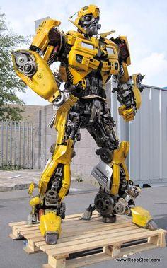 Bumblebee transformer made by Robo Steel