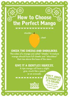 How do you pick the perfect mango?