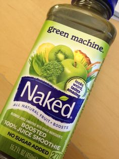 Naked Green Machine It may look green but the delicate mix of Apples, kiwi and mango keep this fresh juice tasting straight kale. Just measure how much you are down , this one bottle serves two full servings . Blatner always recommends diluting a quarter of the bottle with water.
