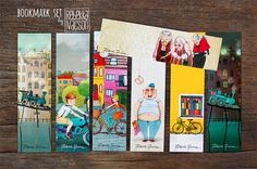 ILLUSTRATED bookmarks by RebekkaIvacson on Etsy