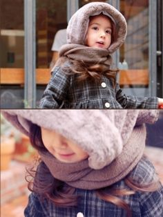 cap fur scarf