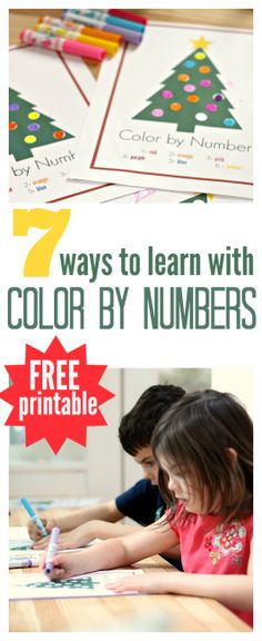 FREE color by numbers