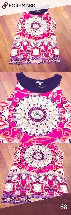 Adorable tunic Multi colored stretch material tunic cute & comfy linea domani Tops Blouses