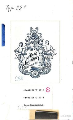 Die Geschichte der Buchdrucker-Kunst in Pommern - Gottlieb Mohnike - Google Books  Exlibris von Moritz von Dycke (* 29. Oktober 1737 in Rosengarten auf Rügen als Moritz Carl Ulrich Diek; † 17. März 1822 in Losentitz) ?