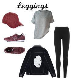 """Wardrobe Staples: Leggings"" by blairemabuza ❤ liked on Polyvore featuring DKNY, Chicnova Fashion, New Balance, River Island, Leggings and WardrobeStaples"