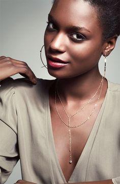 Lana Jewelry 'Large Upside Down' Black Diamond Hoop Earrings (Nordstrom Exclusive) #Nordstrom #NSale