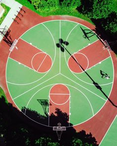 Hypnotic Aerial City Pictures by Humza Deas – Fubiz Media Urban Landscape, Landscape Design, Drones, Basketball Background, Sport Park, Basketball Art, College Basketball, Playground Design, Oise