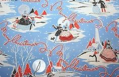 Five Sheets of 1930s Art Deco Christmas themed Wrapping Paper. U.S.A. (11/19/2013)