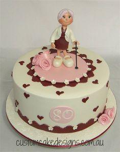 Grandma Cake, Mom Cake, 60th Birthday Cakes, Birthday Celebration, Just Cakes, Fondant Cakes, Mini Cakes, Beautiful Cakes, Cake Toppers
