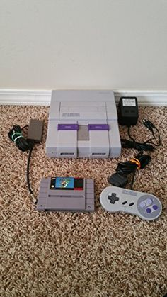 Super Nintendo SNES Bundle with Super Mario World Includes everything needed to play