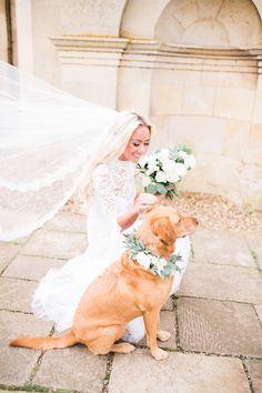 Gemma & Mark's Intimate Wedding- Bridal Bouquet - Bridal Style -  Margot the Labrador - Styling & Planning - Lily & Sage | Photography - Katie Julia | Flowers - Westwood Design
