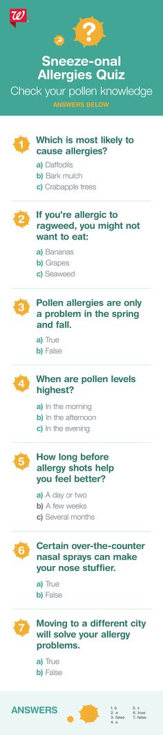 Take this quiz and find out your pollen IQ.