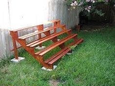 Simple bleacher style bench