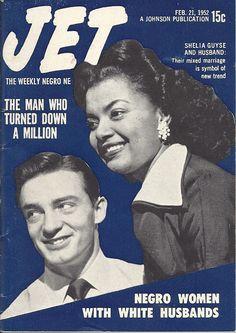 Shelia Guyse is One of the Negro Women with White Husbands - Jet Magazine Feb 1952 Jet Magazine, Black Magazine, Life Magazine, News Magazines, Vintage Magazines, Ebony Magazine Cover, Magazine Covers, Essence Magazine, Vintage Black Glamour