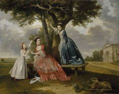 Three Daughters of John, 3rd Earl of Bute, c. 1763-4 by Johann Zoffany