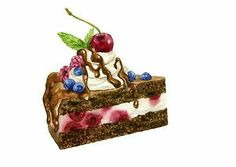 piece of chocolate cake with fresh strawberries, cherries and blueberries and leaves of mint drawing by watercolor, hand drawn vector illustration, aquarelle dessert Royalty free image vector Cake Drawing, Food Drawing, Cupcakes, Cake Paris, Dessert Illustration, Cream Candy, Cute Food Art, Food Sketch, Watercolor Cake
