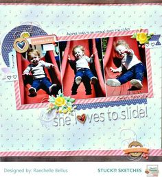 Stuck?! Sketches January 15 2017 challenge DT layout by Raechelle