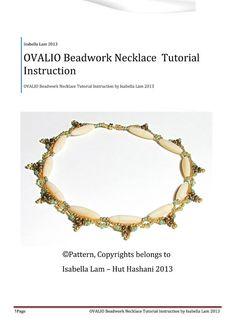 OVALIO SuperDuo Beadwork Necklace Pdf tutorial by bead4me on Etsy, $7.00
