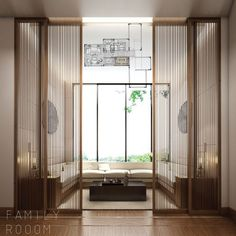 Great proportion of doors. Ideal for Million Stripes from Fine Ornamental Woodwork Panel Collection. in 2020 Great proportion of doors. Ideal for Million Stripes from Fine Ornamental Woodwork Panel Collection. in 2020 Chinese Interior, Japanese Interior, Modern Interior, Interior Architecture, Interior And Exterior, Door Design, House Design, Partition Design, Lobby Design