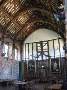 Hatfield, The Old Palace, The Great Hall - the only as-original Tudor edifice. Home of Elizabeth I