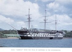 HMS Conway off Plas Newydd, Anglesey The Last Ship, Ship Of The Line, Liverpool, Full Sail, Ice Castles, Port Royal, Naval History, Wooden Ship, Bangor