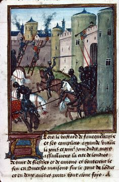 Siege of London (MS 1168) - Wars of the Roses - The Lancastrian siege of London in 1471 is attacked by a Yorkist sally.