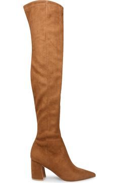 Long Brown Boots, Tan Knee High Boots, Long Boots, Over The Knee Boots, Chunky Heels, Steve Madden, Riding Boots, Heeled Boots