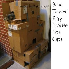 THE BEST HOLIDAY GIFT FOR YOUR CAT: HOMEMADE BOX CASTLE!