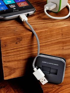 A charging cable that has a built-in battery, for those times you can't find somewhere to plug in. The 800-mAh capacity gets you through 3 additional hours.   - PopularMechanics.com