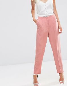 Image 4 of ASOS Soft Lux Tapered Pants