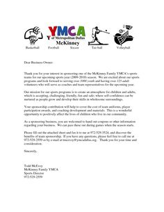 sponsorship letter template for sports team - parent thank you letter from youth athletes sponsorship