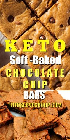 If what you are looking for is an easy, delicious low carb keto soft-baked chocolate chip bars, are you in for a treat!  keto chocolate chip bars| low carb chocolate chip bar| sugar-free chocolate chip bars| keto cookies| low carb cookies Keto Friendly Chocolate, Keto Friendly Desserts, Low Carb Chocolate, Low Carb Desserts, Paleo Sweets, Low Carb Brownie Recipe, Brownie Recipes, Brownie Ideas, Cookie Ideas