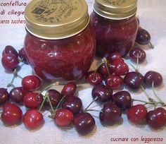 Quando le ciliegie abbondano niente di meglio è farne una buona scorta in confettura: eccovi la confettura di ciliegie senza zucchero