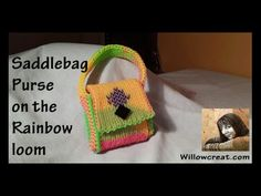 Video shows and tells you how to make a saddlebag purse using the cornrow pattern and the rainbow loom Copyright © Cheryl Mayberry, 2014 - Rerecording this v. Rainbow Loom Purse, Saddlebag Purse, Rainbow Loom Creations, Hair Bobbles, Dragon Scale, Loom Bands, Click Photo, Rubber Bands, Loom Knitting