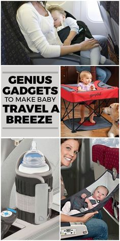 10 Gadgets To Make Traveling With Babies A Breeze Traveling with a baby sounds scary. especially if you are going to be on an airplane or in a car for a long period of time. There is some great advice ou The Babys, 5 Weeks Pregnant, Pregnant Mom, Traveling With Baby, Travel With Kids, Baby Travel, Travel Chic, Travel Tips With Baby, Traveling Outfits