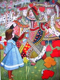 """""""Alice in Wonderland"""" art by Charles Robinson - A Lewis Carroll Fairy Tale - England"""