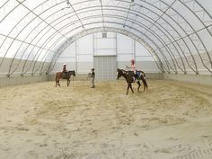 Indoor Riding Arena by ClearSpan by clearspanfabricstructures, via Flickr