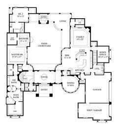 rear courtyard house plans | plan w16359md: mediterranean, florida