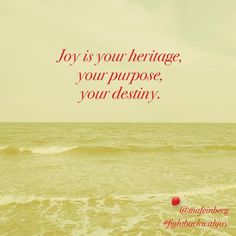 We were created for joy. We are called to live in joy. And joy is where are headed. Embracing joy and practicing it is what Jesus wanted for each of us. Choose Joy, Choose Happiness, Y Words, Inspirational Verses, Joy Of The Lord, Great Fear, I Know The Plans, My Destiny