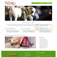 VuCare Assistance Dogs Website Design Visit www.StudioGrfx.com to view my portfolio #webdesign #graphicdesign