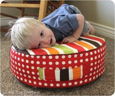 How to Create Your Own Colorful Jumbo Floor Pillows | Floor pillows ...