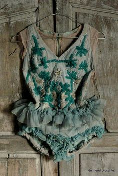 vintage antique shabby chic beaded circus costume dance