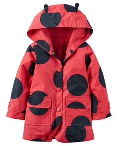 Baby Girl Ladybug Raincoat from Carters.com. Shop clothing & accessories from a trusted name in kids, toddlers, and baby clothes.